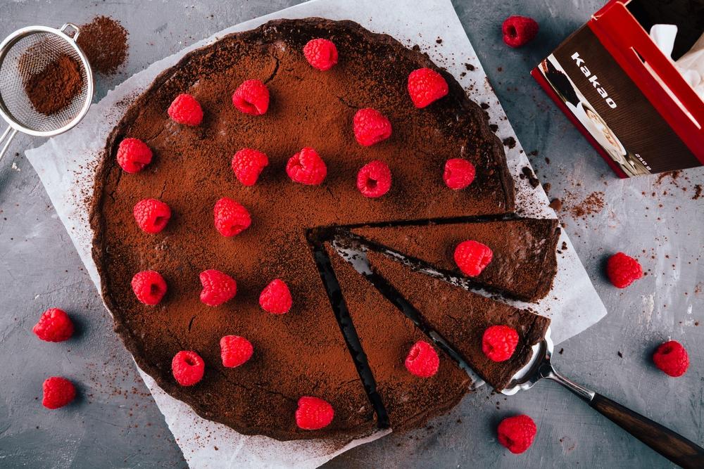 Idealny przepis na fasolowe brownie z malinami