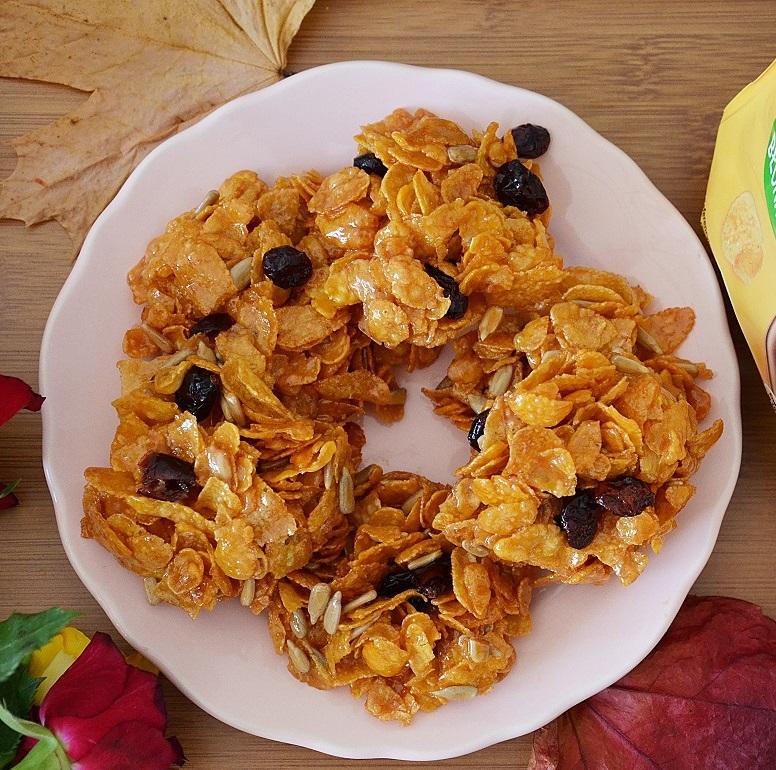 Chrupiące ciasteczka z płatków kukurydzianych